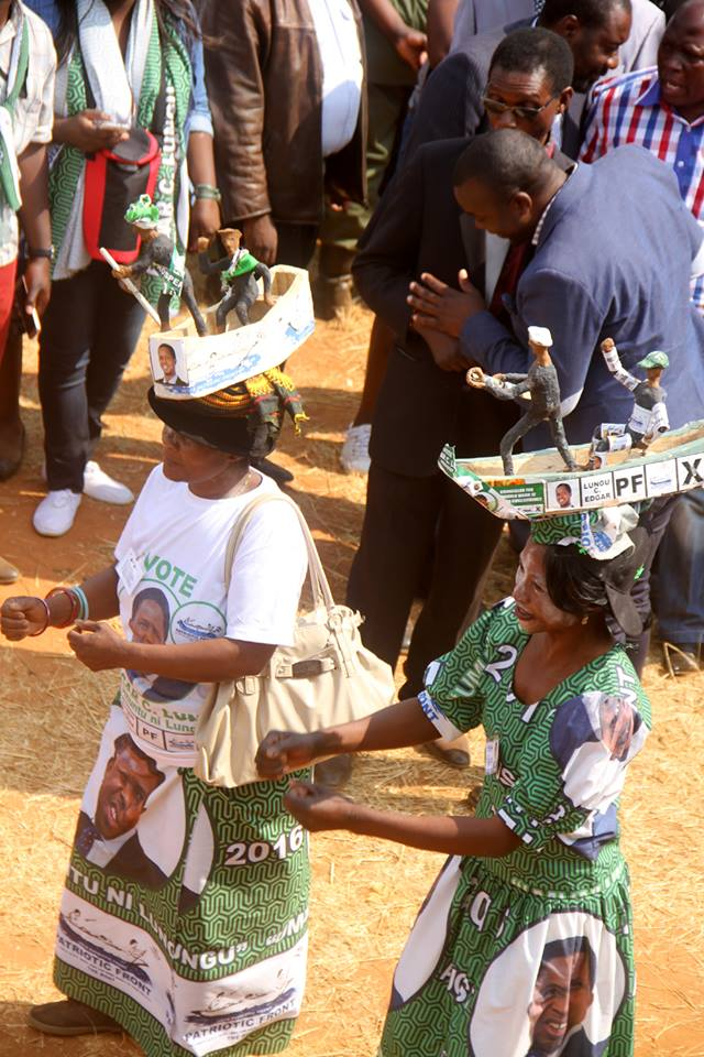 PF supporters during the National Thanks Giving and Unity Rally at Woodlands Stadium in Lusaka on Tuesday, August 16,2016-Picture by THOMAS NSAMA