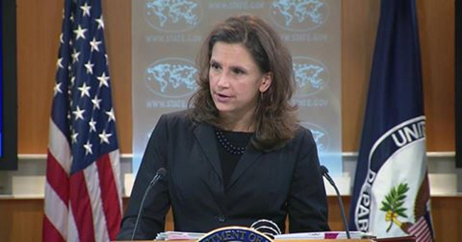 United States Director of Press Relations office and acting Spokesperson Elizabeth Trudeau