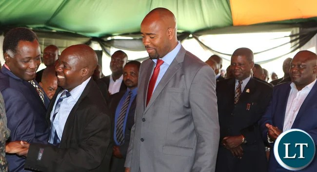Dr Edify Hamukale Minister Southern Provonce with Richard Kapita North Western Minister