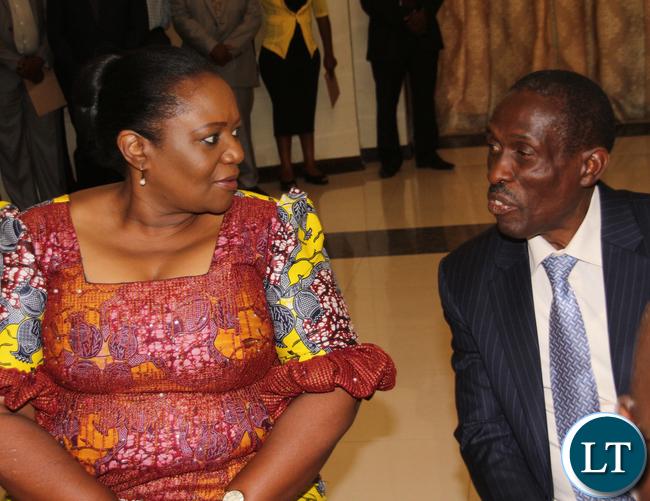 State House PS Christah Kalulu and Hon. Lawrence John Sichalwe