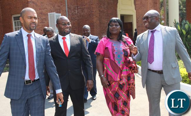 Vincent Mwale, John Mawele, PS Musunga Agnes and PS Amos Malupenga