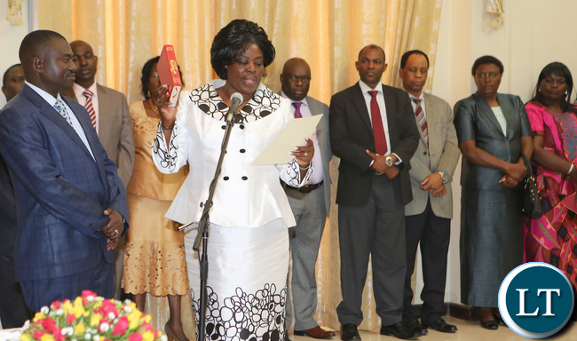 Jean Kapata Lands minister