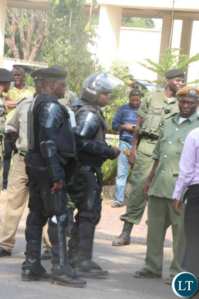 Heavy police presence at Luanshya Central Police today