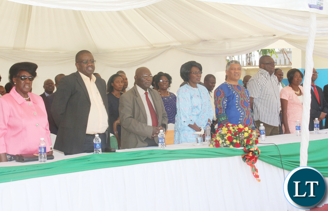 VEEP was joined by Minister of justice Given Lubinda and Minister of General Education Dr Dennis Musuku Wachinga, some Wina family members