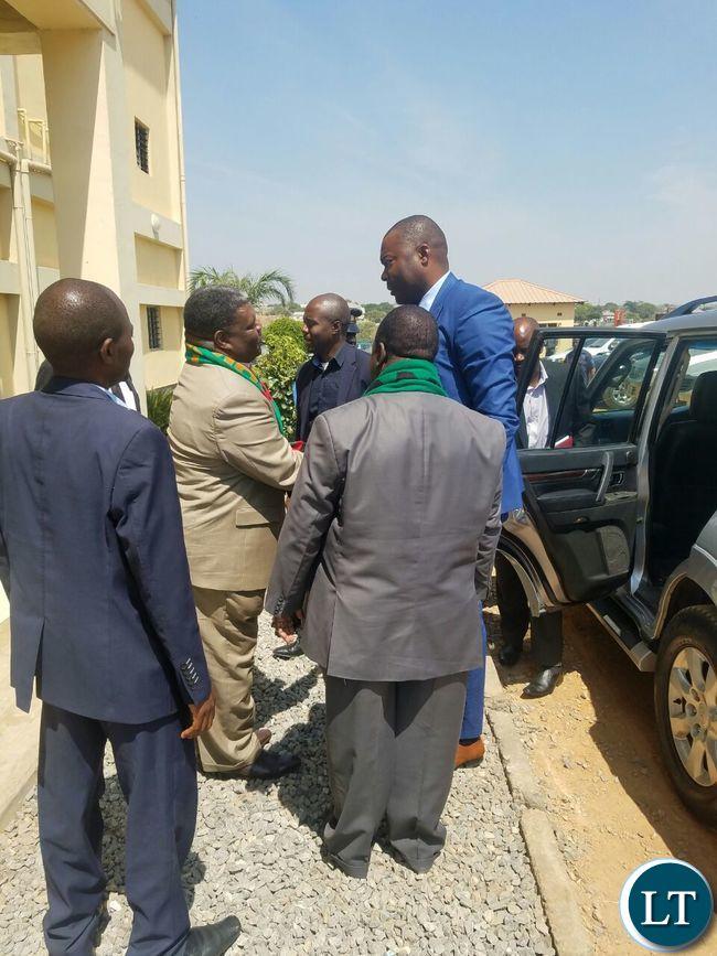 On arrival at the New Apostolic Church in Kansenshi, Ndola
