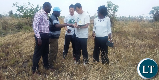 The provincial TV station construction for central province preparations have reached an advanced stage and works are slated to start by December 2016.In the picture the Chinese contractors with government officials looking at the architectural map of the land earmarked for the project.