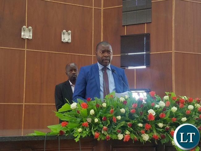 Reading a speech during the commemoration of National Day of Prayer and Fasting in Ndola