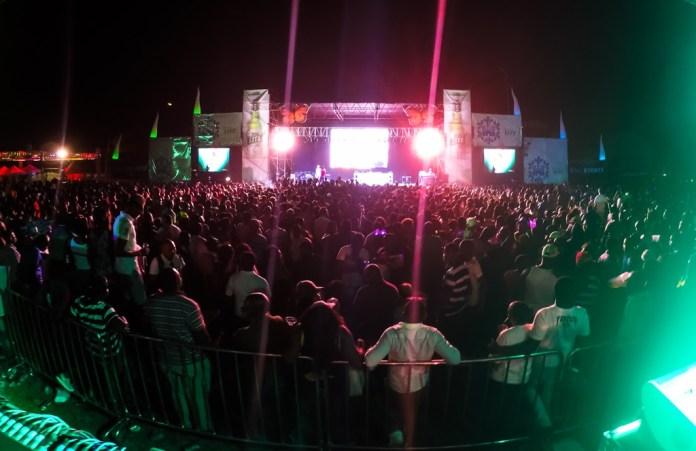 Fans enjoy the R&G Oktoberfest sponsored by Castle Lite.