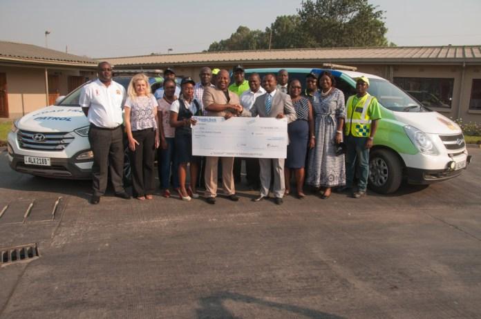 Zambian Breweries and RTSA representatives mark their partnership on road safety.