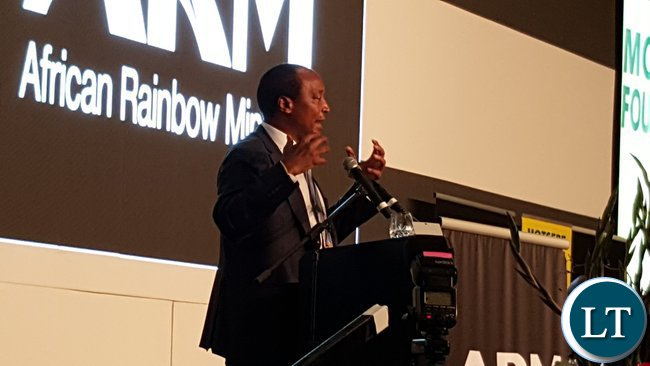 African Rainbow Minerals founder, Mr. Patrice Motsepe speaking at the 2016 ARM Broad-based Economic Empowerment (BBEE) Trust and Motsepe Foundation meeting in Sandton, Johannesburg on 22nd November, 2016.