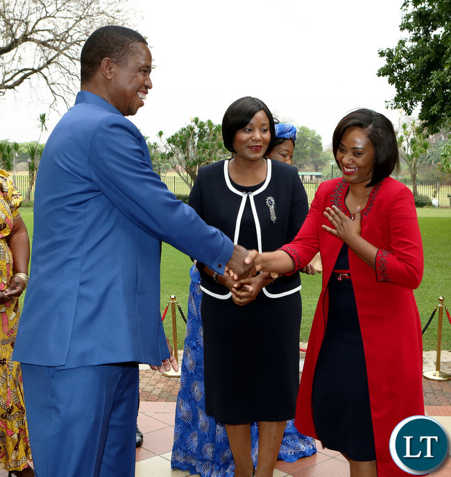 President Edgar Lungu with hon Kampamba Mulenga Minister of Information and Broadcasting servises