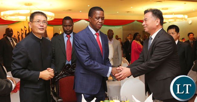 President Lungu at Chinese Dinner