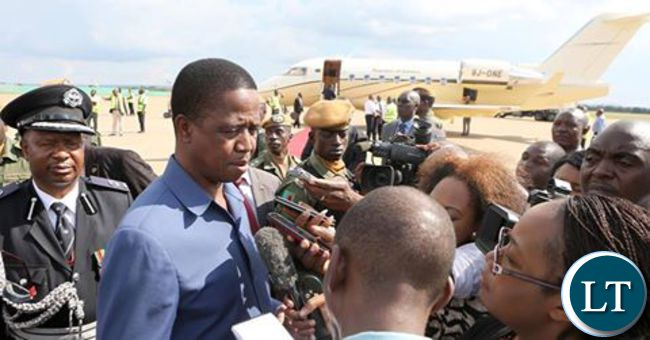 President Lungu on arrival from Tanzania