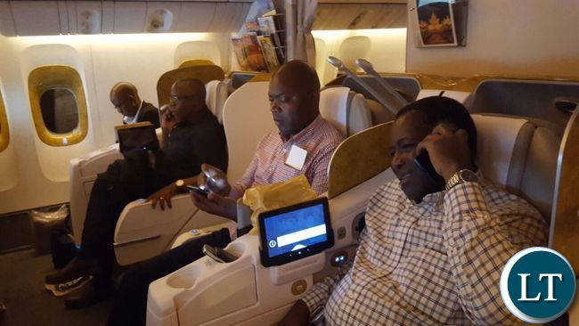 Provincial Ministers on board Emirates flight to attend a series of workshops on development