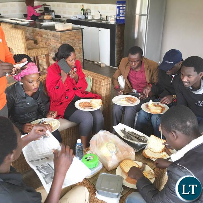 Workers from the former Post Newspaper sharing their 'Last Supper