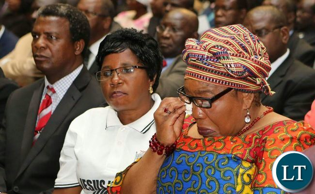 Former First Lady Vera Chiluba in attendance