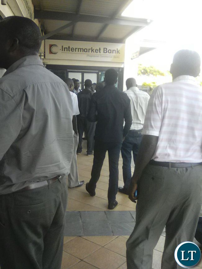 Customers stranded outside Intermarket banking corporation