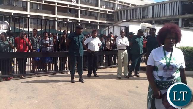Lusaka Civics centre on lock down