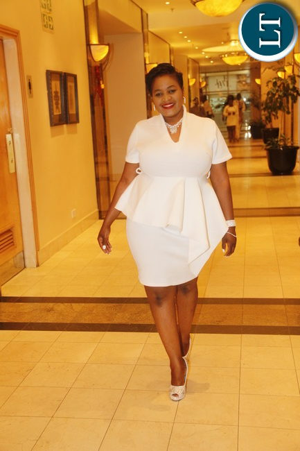 Airtel Networks Zambia organised an all white party as a way of celebrating Christmas at Lusaka Intercontinental Hotel on Friday 10th Drecember.Airtel Networks Communication and Corporate Officer Mwila Kabaso walking to the party venue. Picture By Jean Mandela