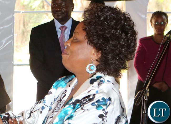 Labour and Social Security Minister Joyce Simukoko