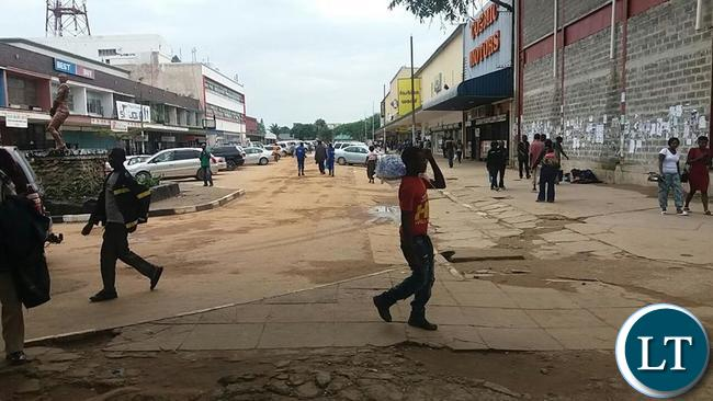 Kitwe streets without the vendors