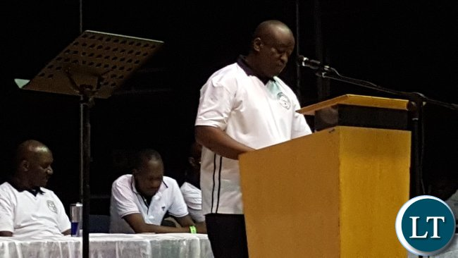 Zambia Association in South Africa president, Mr. Ferdinand Simaanya speaking at the annual general meeting in Kempton Park, South Africa on 28th January, 2017