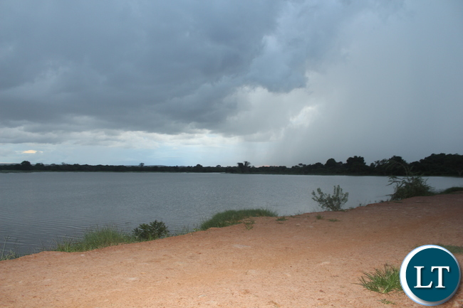 Part of the Munyenze Dam reported to have silted and requires urgent rehabilitation.