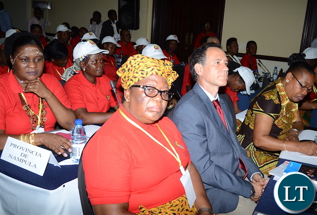 Delegates following the proceedings of the on-going Conference on ending child marriage and early pregnancies in Pemba City, Mozambique on February 25,2017 -Picture by THOMAS NSAMA/STATE HOUSE