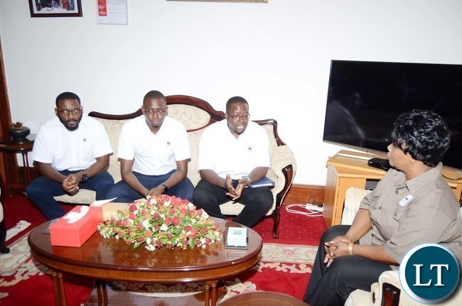 The World Wide Fund for Nature Zambia (WWF Zambia)  with  First Lady Esther Lungu at State House
