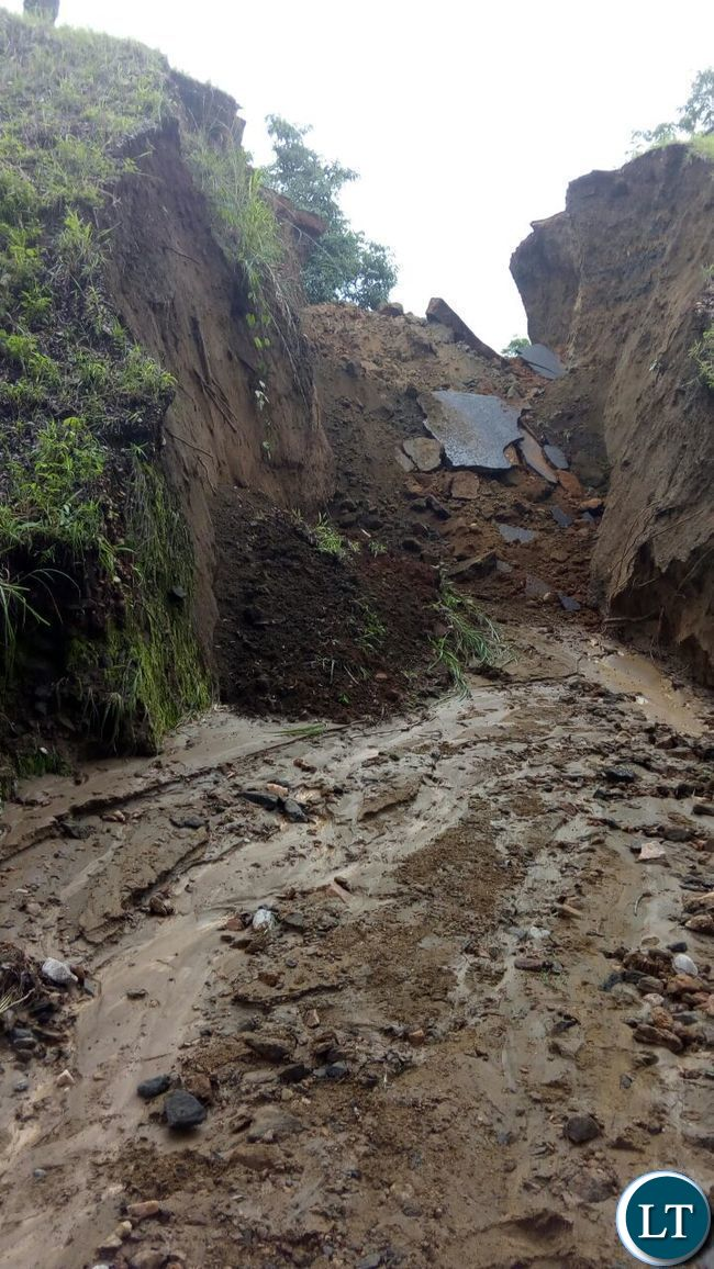 Damaged Batoka Maamba road