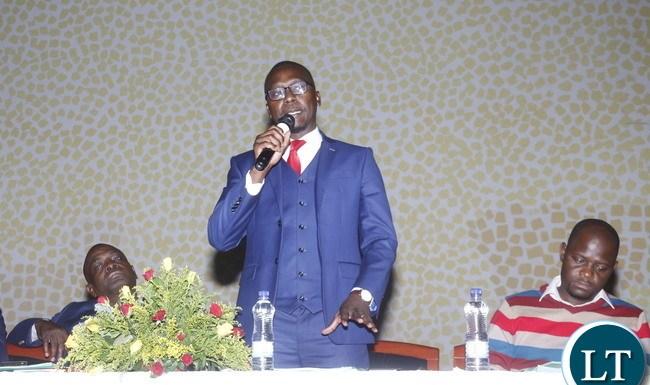 Chamber of Mines Chief Executive Officer Sokwani Chilembo