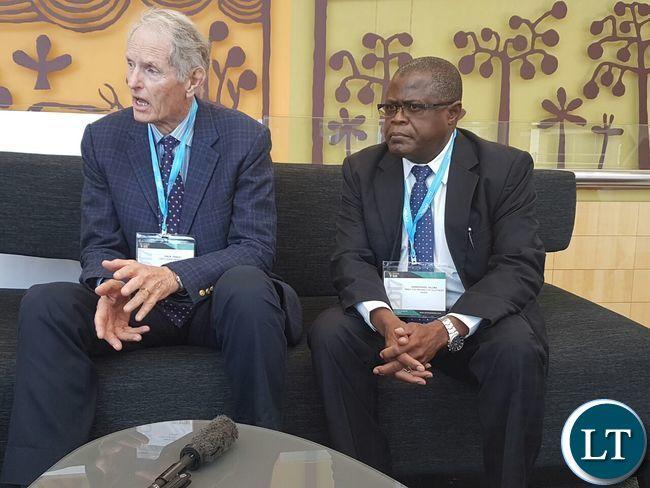 Philip Pascal with Mines Minister Yaluma