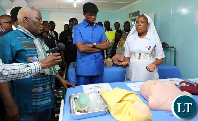 President Lungu Tour Solwezi Midwifrey school