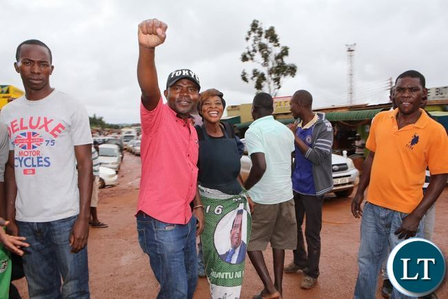 PF Supporters in Solwezi