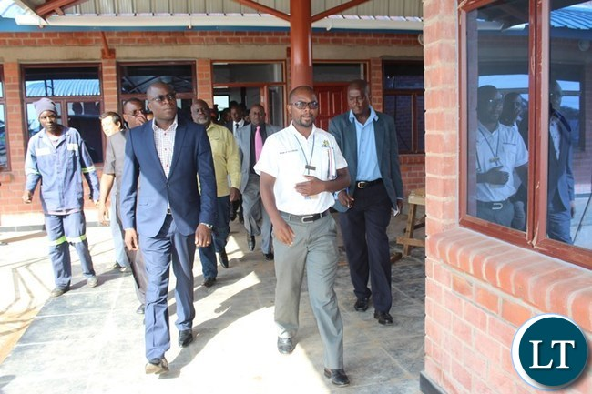 CHANIDA Border Post Zambia Revenue Authority (ZRA) Acting Station Manager, Peter Nyirenda, leads Eastern Province Minister, Makebi Zulu, during the inspection of a one-stop border post at Chanida in Chadiza on Tuesday. PICTURE BY STEPHEN MUKOBEKO/ZANIS