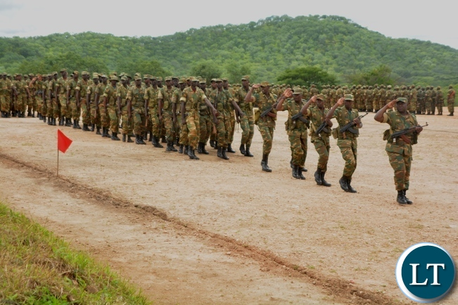 Zambian Battalion 3 during the Completion of their Training at Nanking Training College in Chongwe