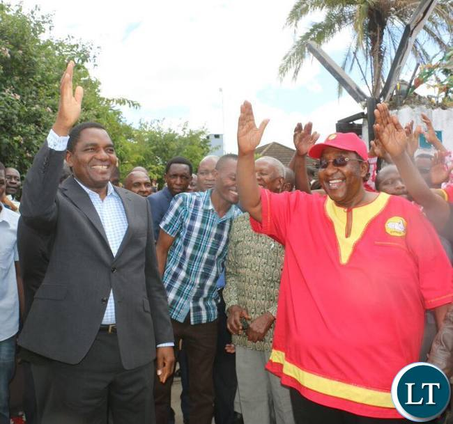 HH and GBM gestures during the UPND news conference