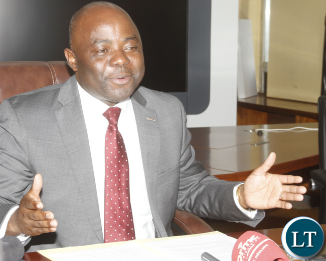 Home Affairs Minister Stephen Kampyongo