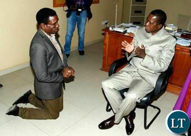 President Lungu talks to Hon. Michael Katambo