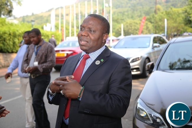 FOREIGN Affairs Minister, Harry Kalaba, speaking during an interview with Journalists after the Southern Africa Development Community (SADC) Council of Ministers held at Swazi Royal Hotel in Swaziland's Ezulwini Town on Wednesday. PICTURE BY STEPHEN MUKOBEKO/ZANIS