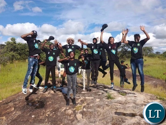 The youths who were part of the WWF Zambia Wetlands tour