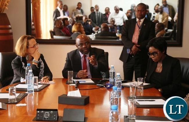 Home Affairs Minister Stephen Kampyongo