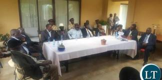 Chiefs addressing a news conference at HH's residence