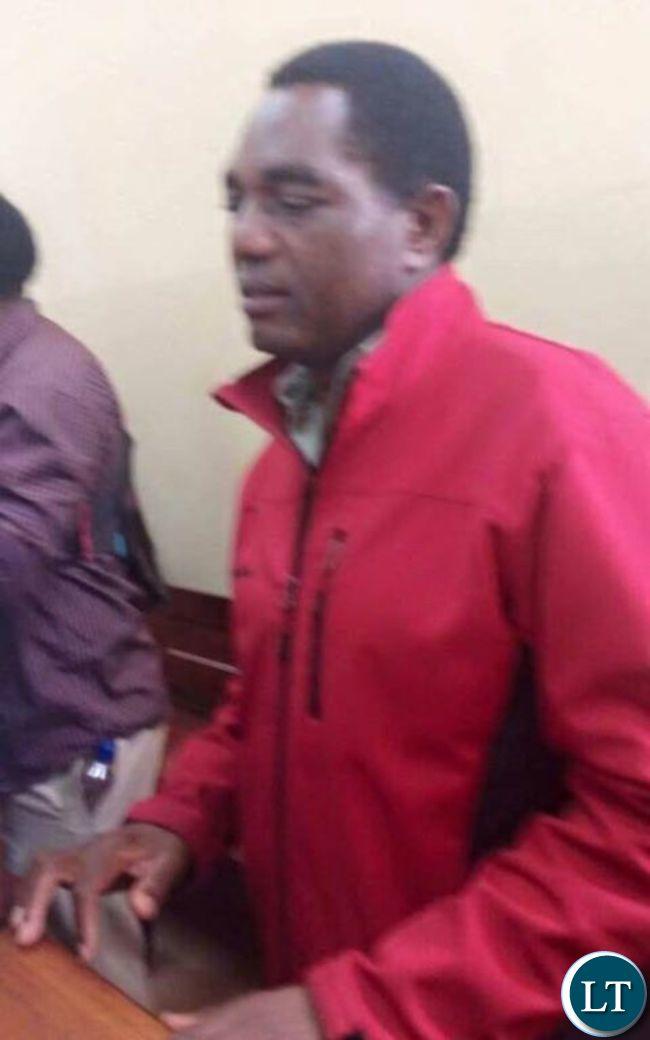 Hakainde Hichilema in court