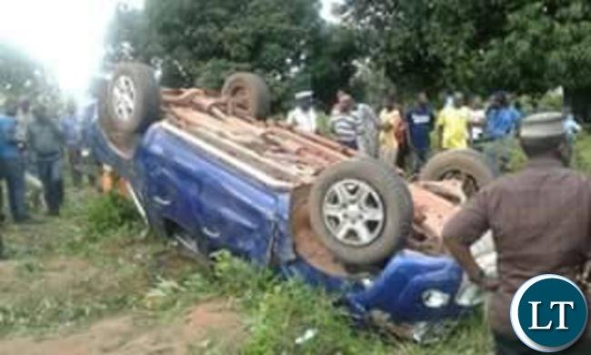 The Vehicle Kambwili was travelling in