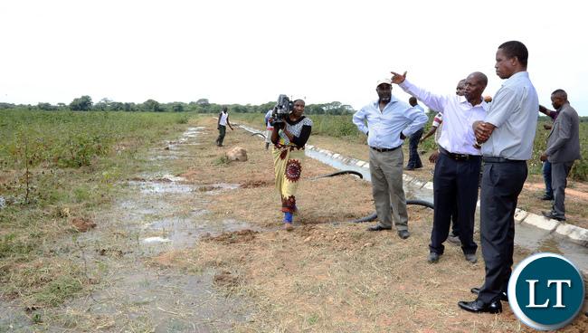 President Lungu Inspects Nzenga Irrigation Projects in Sinazonga