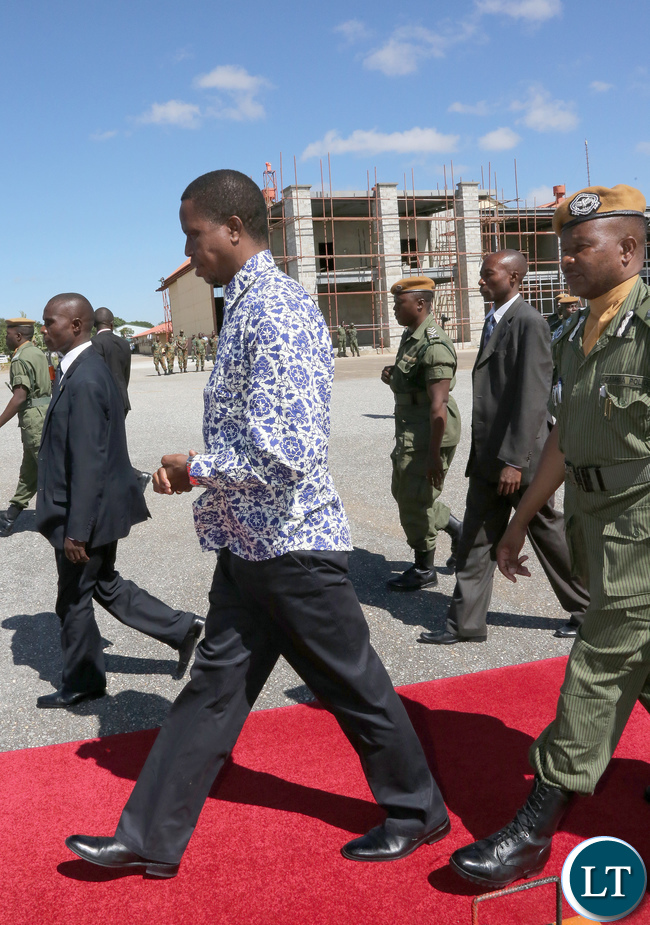 President Lungu Leaves for Northern Province