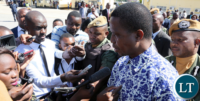 President Lungu Press Briefing at City airport in Lusaka