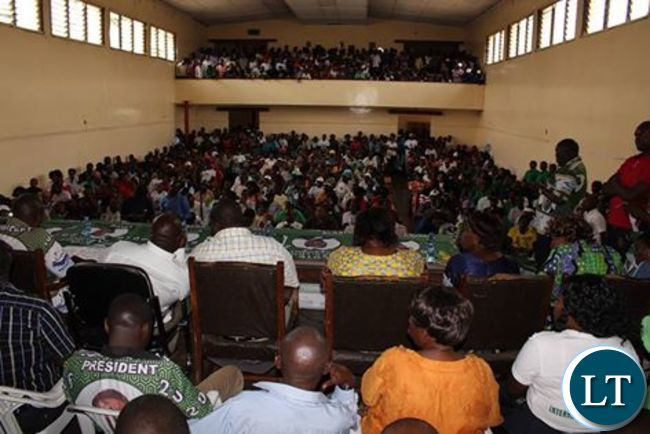 High table of the PF Meeting at  buchi hall in kitwe