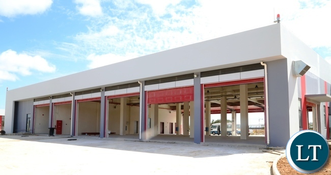 New Fire Station at Kenneth Kaunda International Airport under construction has reached advanced stage at 90% and the construction is done by China Jianxi